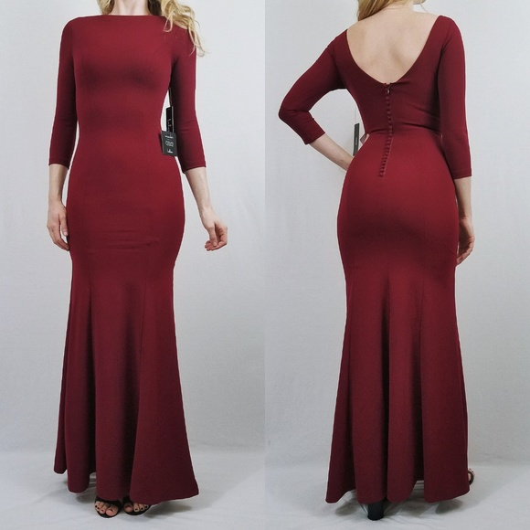 6a76261069b Glamour Galore Wine Red Button Back Maxi Dress
